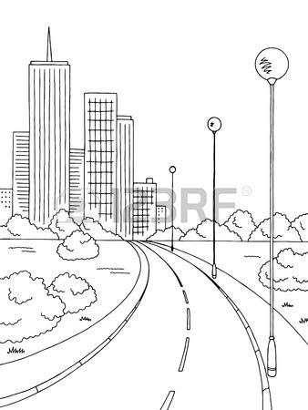 City Street Drawing At Getdrawings Com