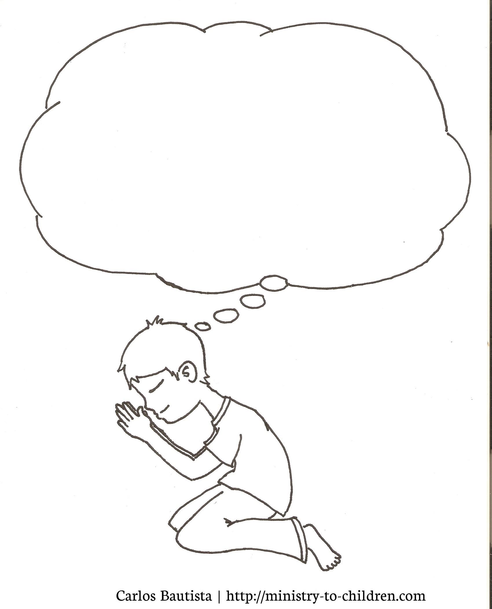 Child Praying Drawing At Getdrawings