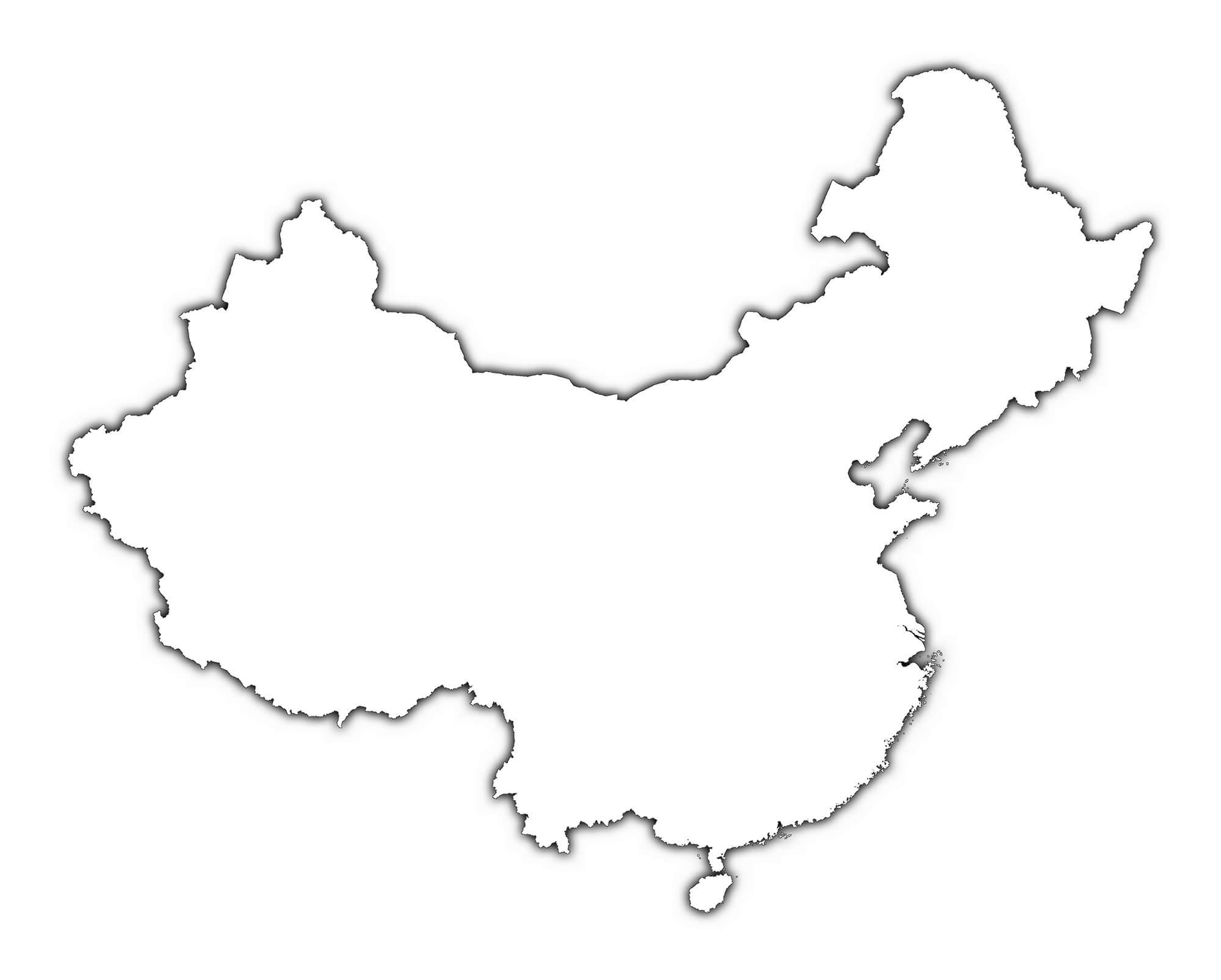 China Map Drawing At Getdrawings