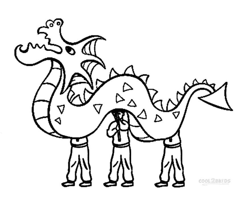 chinese dragon cartoon drawing
