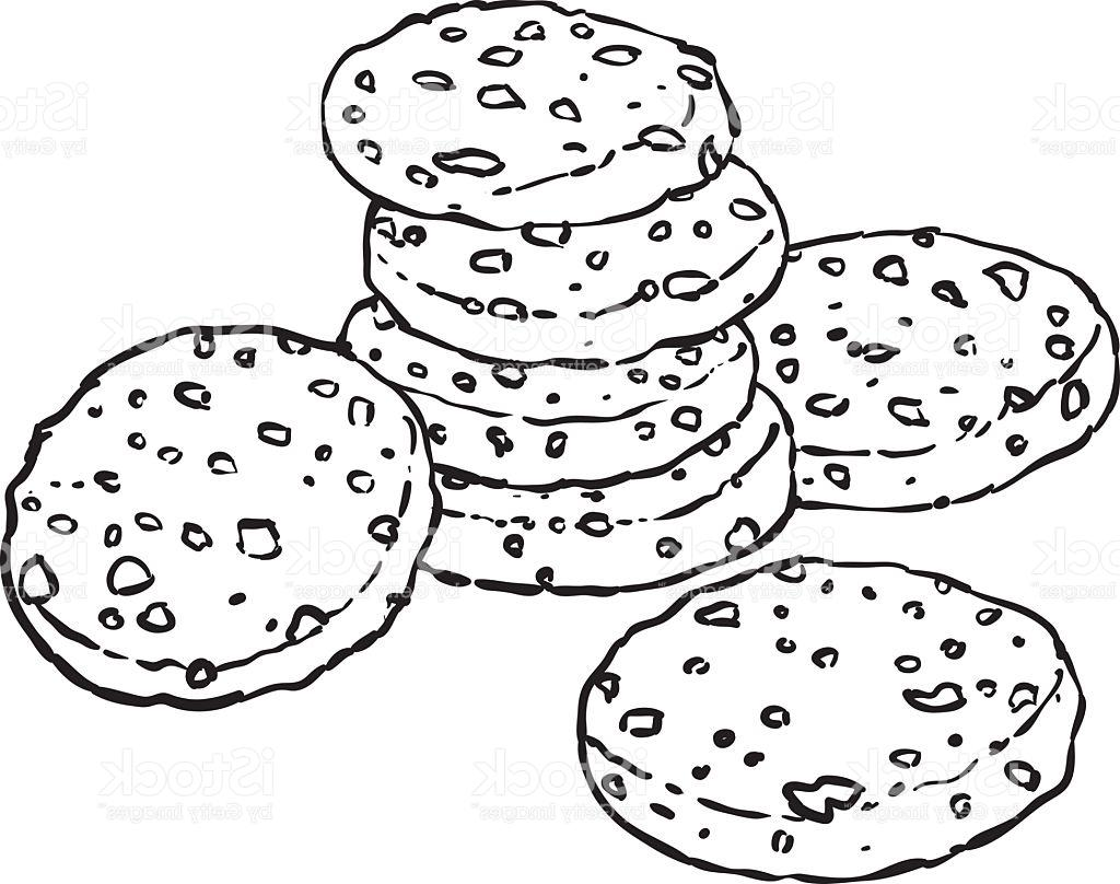 Biscuit Line Drawing Sketch Coloring Page