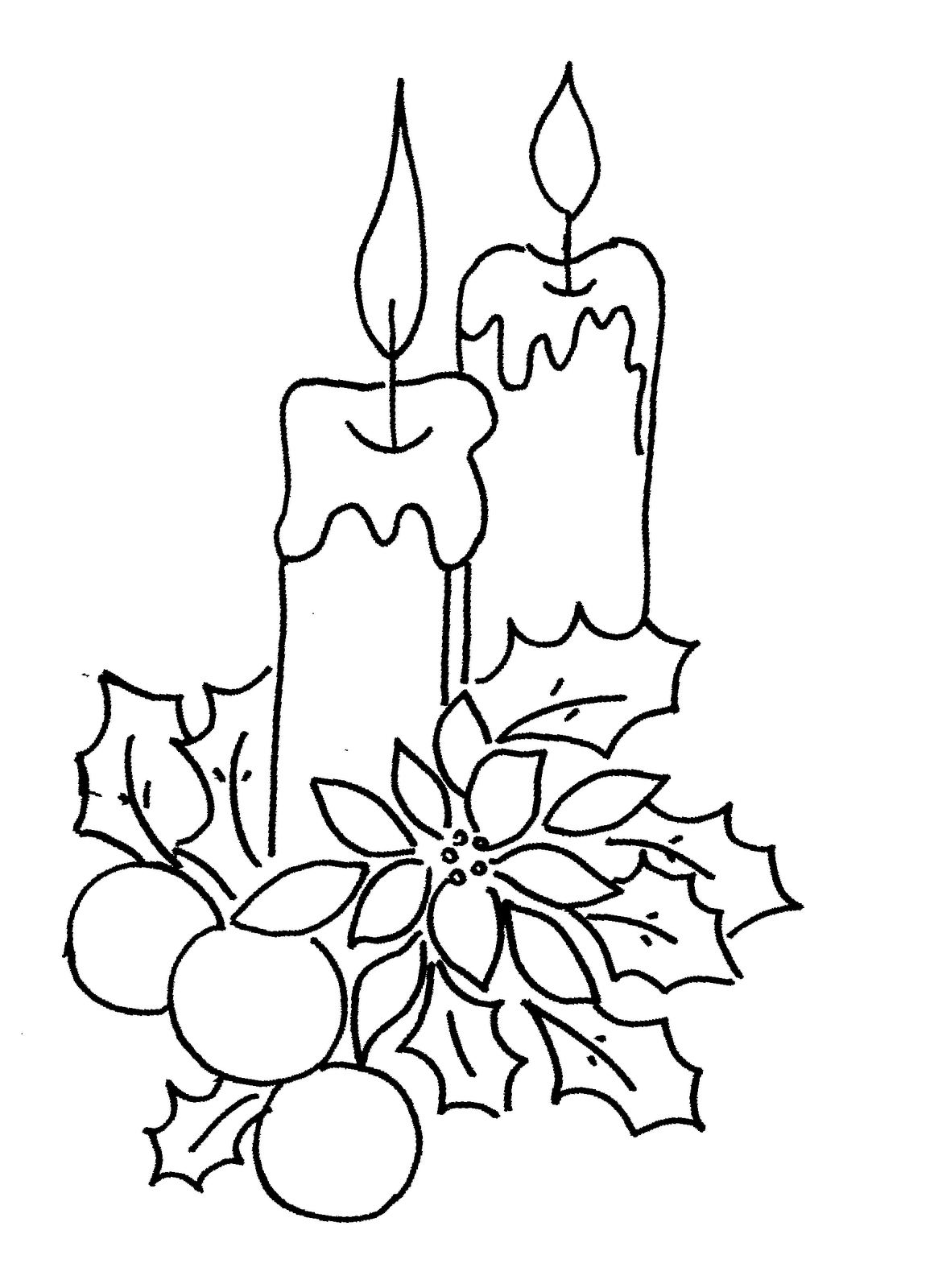 Christmas Candles Drawing At Getdrawings