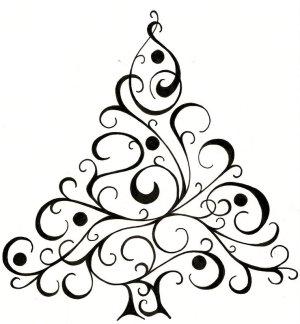 christmas easy drawing drawings simple fun getdrawings