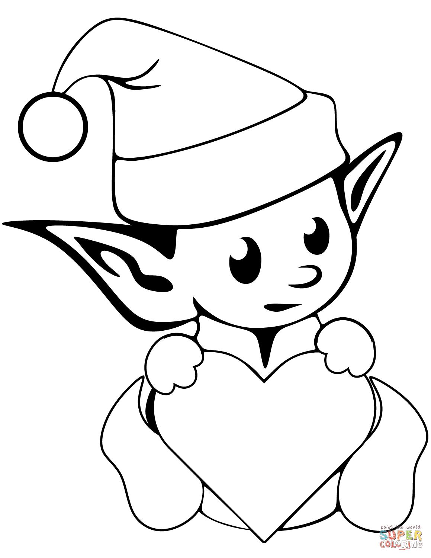 Christmas Elf Drawing At Getdrawings