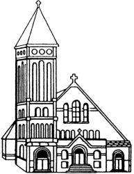 church drawing medieval getdrawings