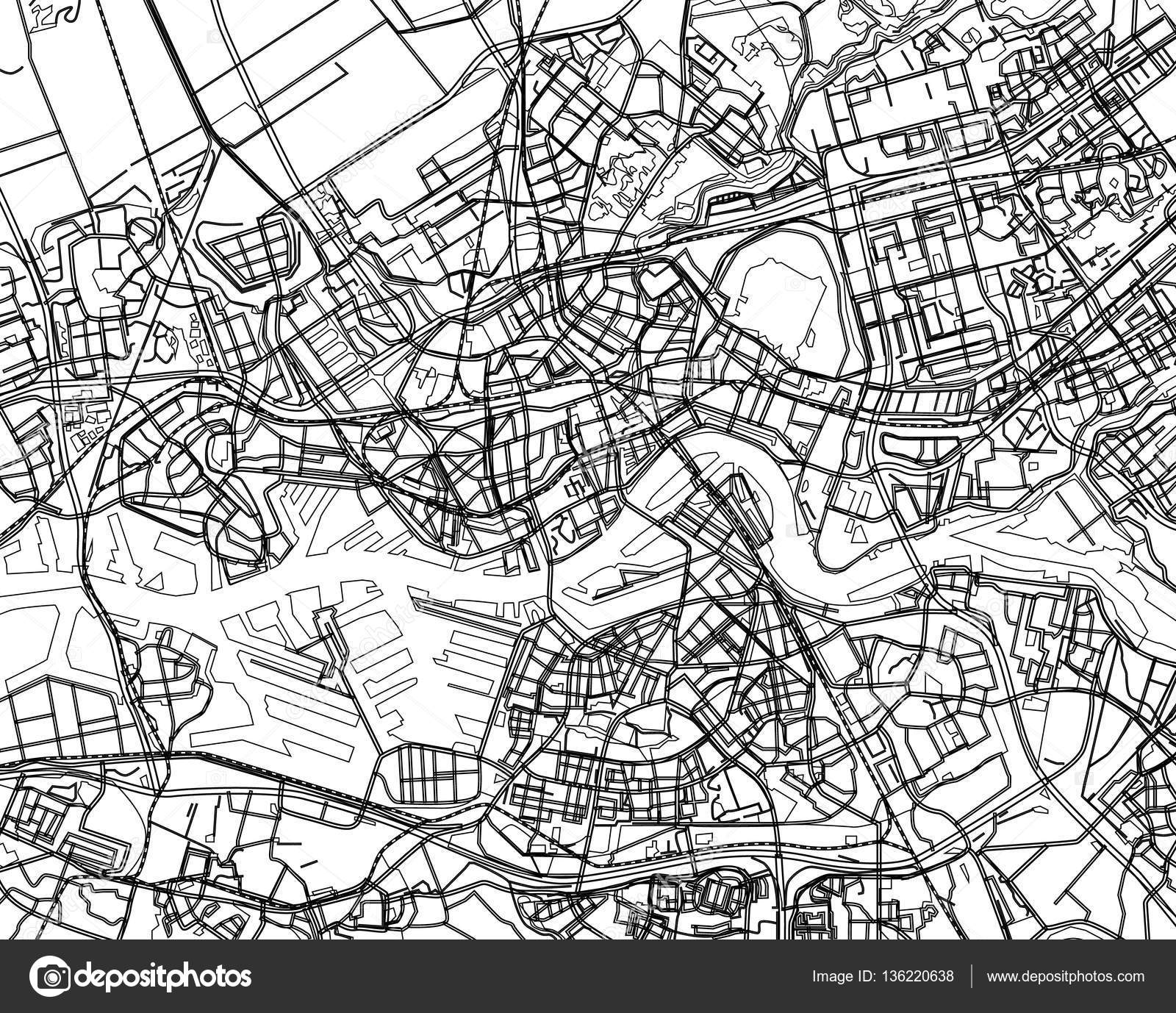 City Map Drawing At Getdrawings