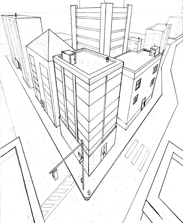 Two Point Perspective Exercise By