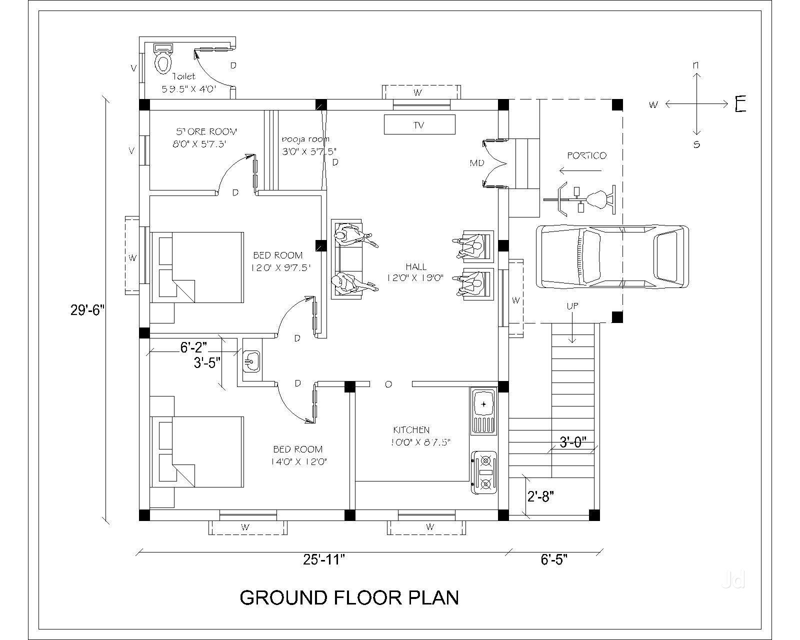 Civil Engineering Drawing House Planning Verma B P