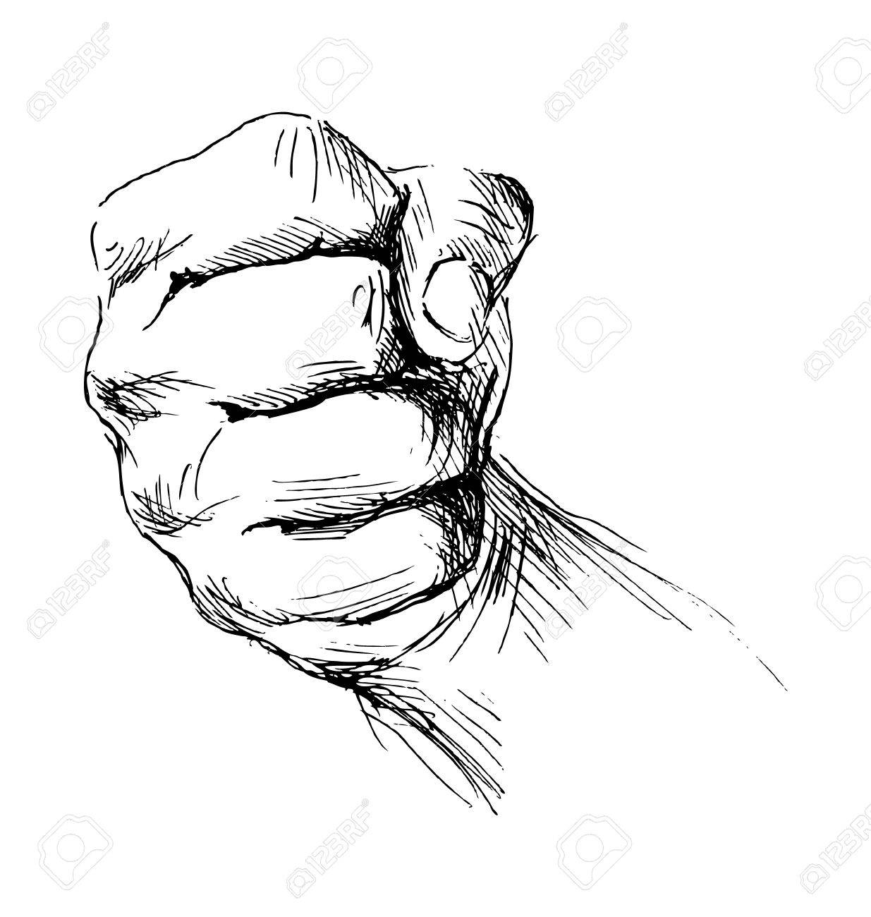 Clenched Fist Drawing At Getdrawings
