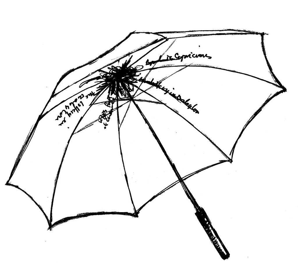 Closed Umbrella Drawing At Getdrawings