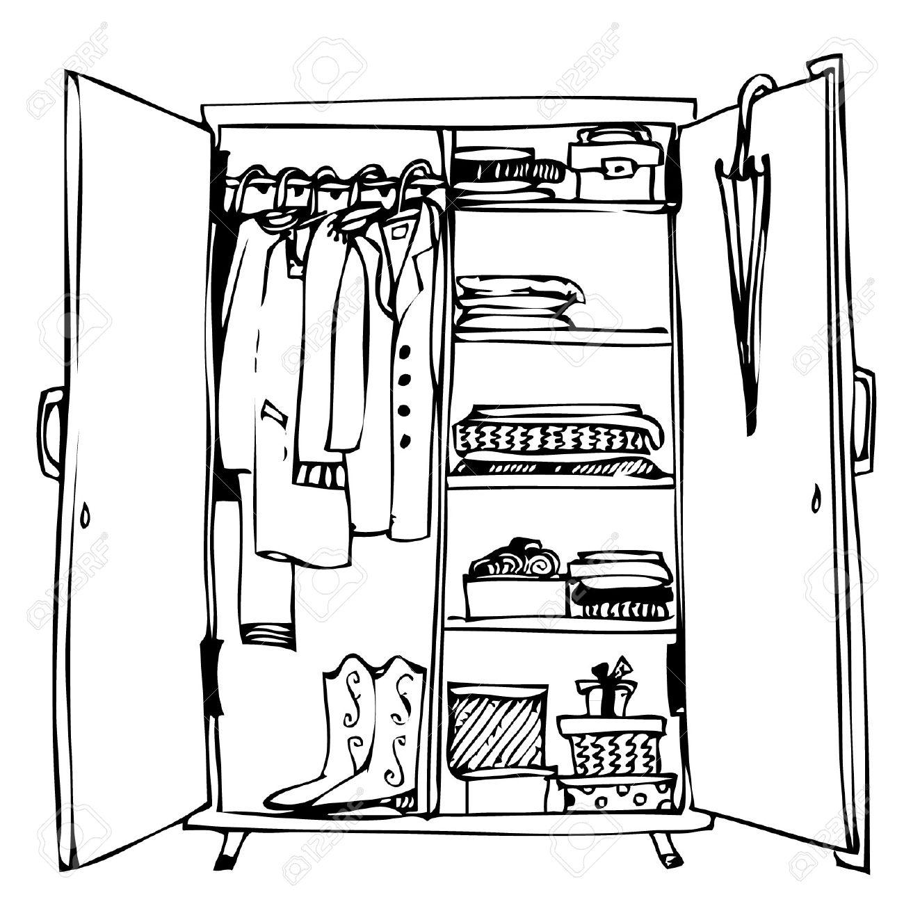 Closet Drawing At Getdrawings