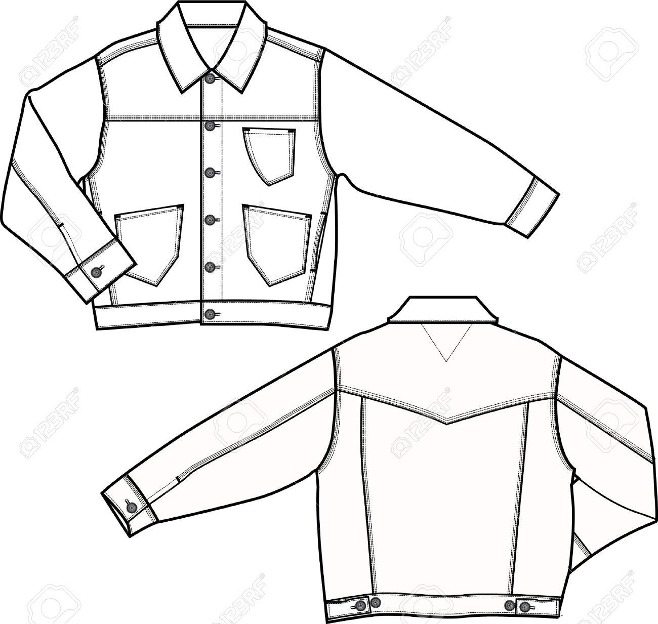 Coat Technical Drawing At Getdrawings