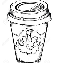1058x1300 hot coffee disposable to go cup with lids and label with coffee [ 1058 x 1300 Pixel ]