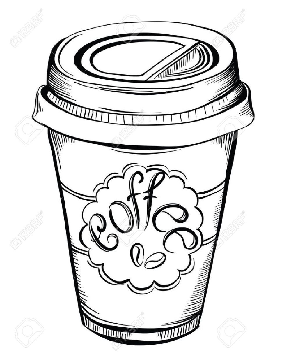 medium resolution of 1058x1300 hot coffee disposable to go cup with lids and label with coffee