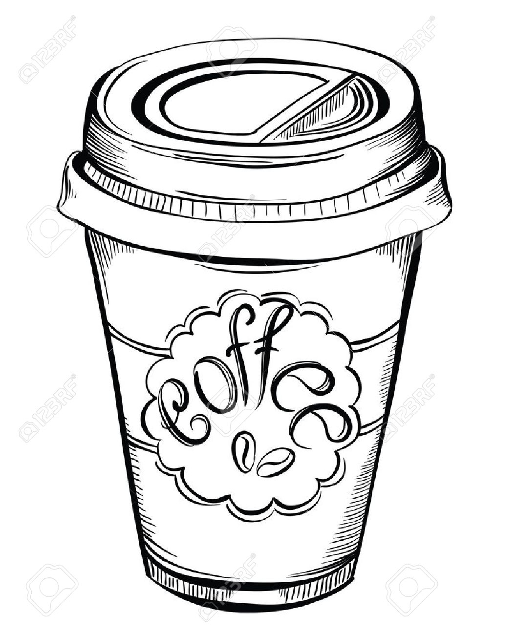 hight resolution of 1058x1300 hot coffee disposable to go cup with lids and label with coffee