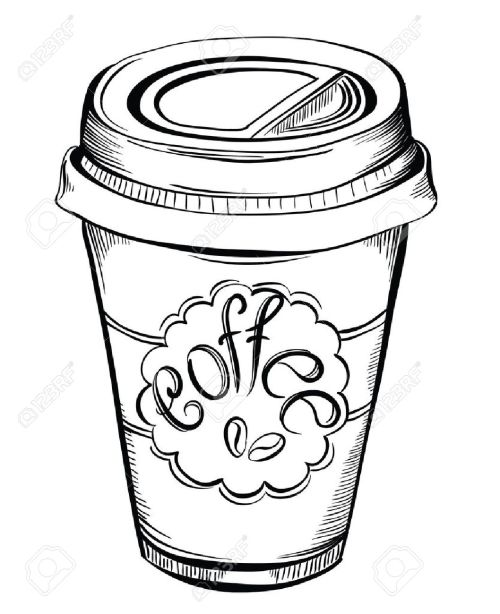 small resolution of 1058x1300 hot coffee disposable to go cup with lids and label with coffee