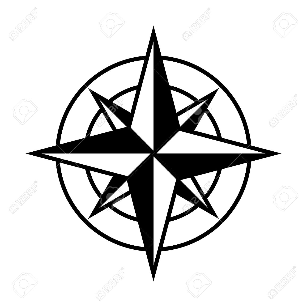 Compass Rose Drawing At Getdrawings