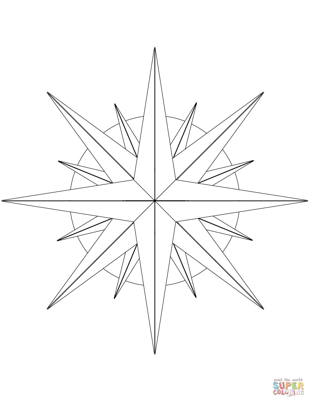 Compass Rose Drawing At Getdrawings