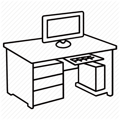 Computer Desk Drawing at GetDrawingscom  Free for