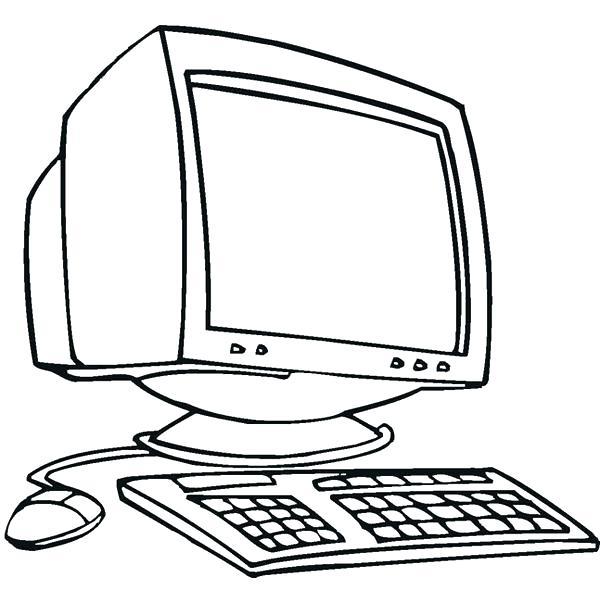 Computer Cartoon Drawing At Getdrawings Com