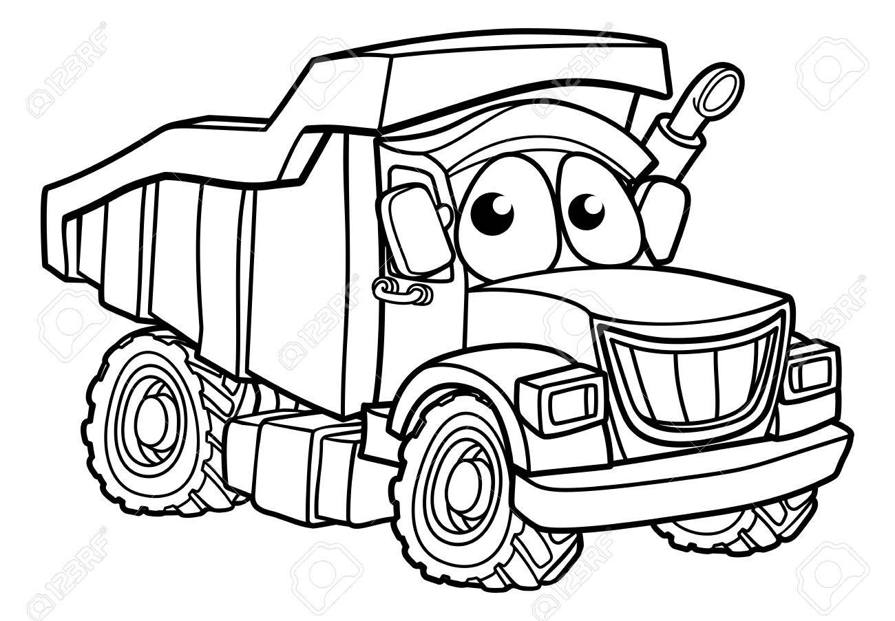Construction Truck Drawing At Getdrawings