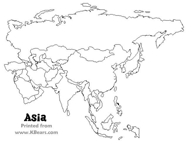 Blank map of eurasia