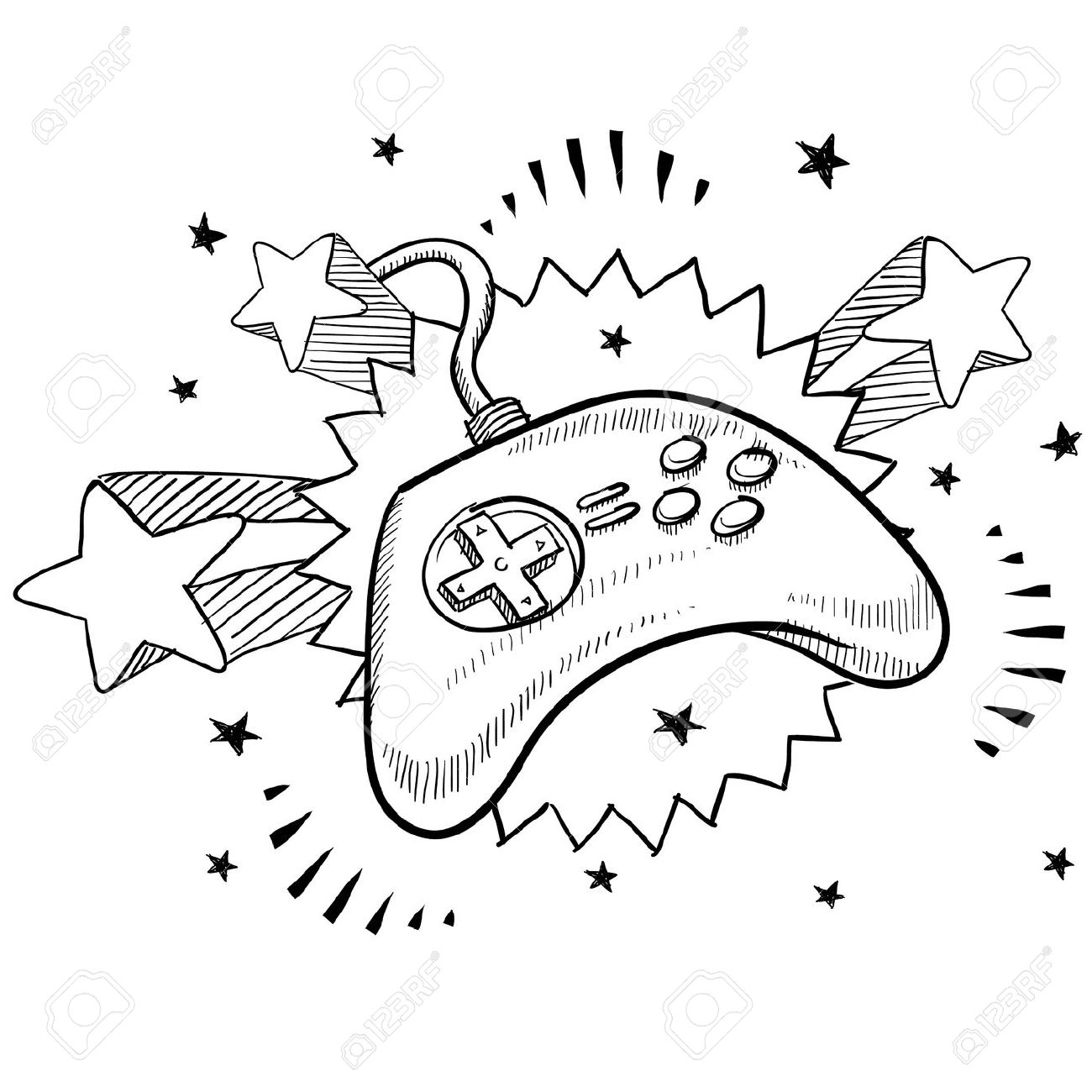 The Best Free Controller Drawing Images Download From 555