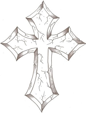 crosses cross drawing drawings stone cool tattoo thelob celtic deviantart designs simple library clipart tattoos contour crucifix religious easy getdrawings