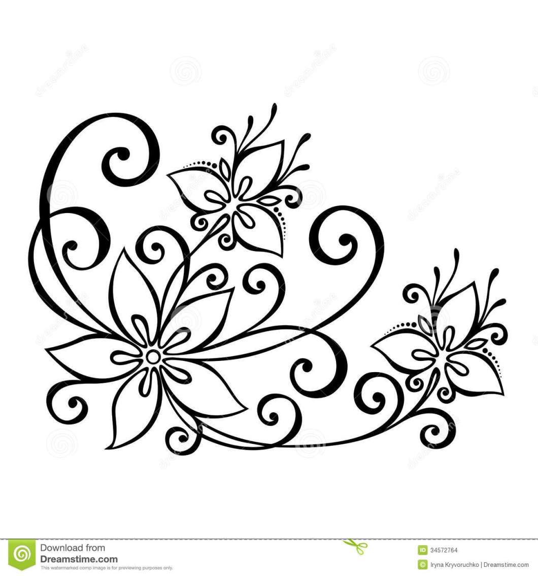 Simple Flower Border Designs For School Projects To Draw