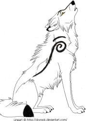 wolf howling wolves drawings drawing moon rocket cool howl sketches coloring simple pages cartoon sketch wings getdrawings drawn deviantart werewolf