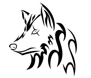 wolf head tribal wolves cool drawings drawing easy draw sketch ookami deviantart music coloring pages getdrawings sketches jutsu submission custom