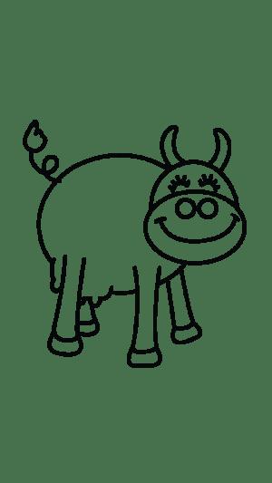cow drawing step draw easy tutorial getdrawings