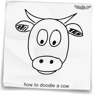 cow simple drawing doodle getdrawings