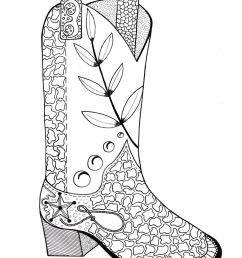 1000x1421 cowboy boot adult coloring page adult coloring cowboys [ 1000 x 1421 Pixel ]