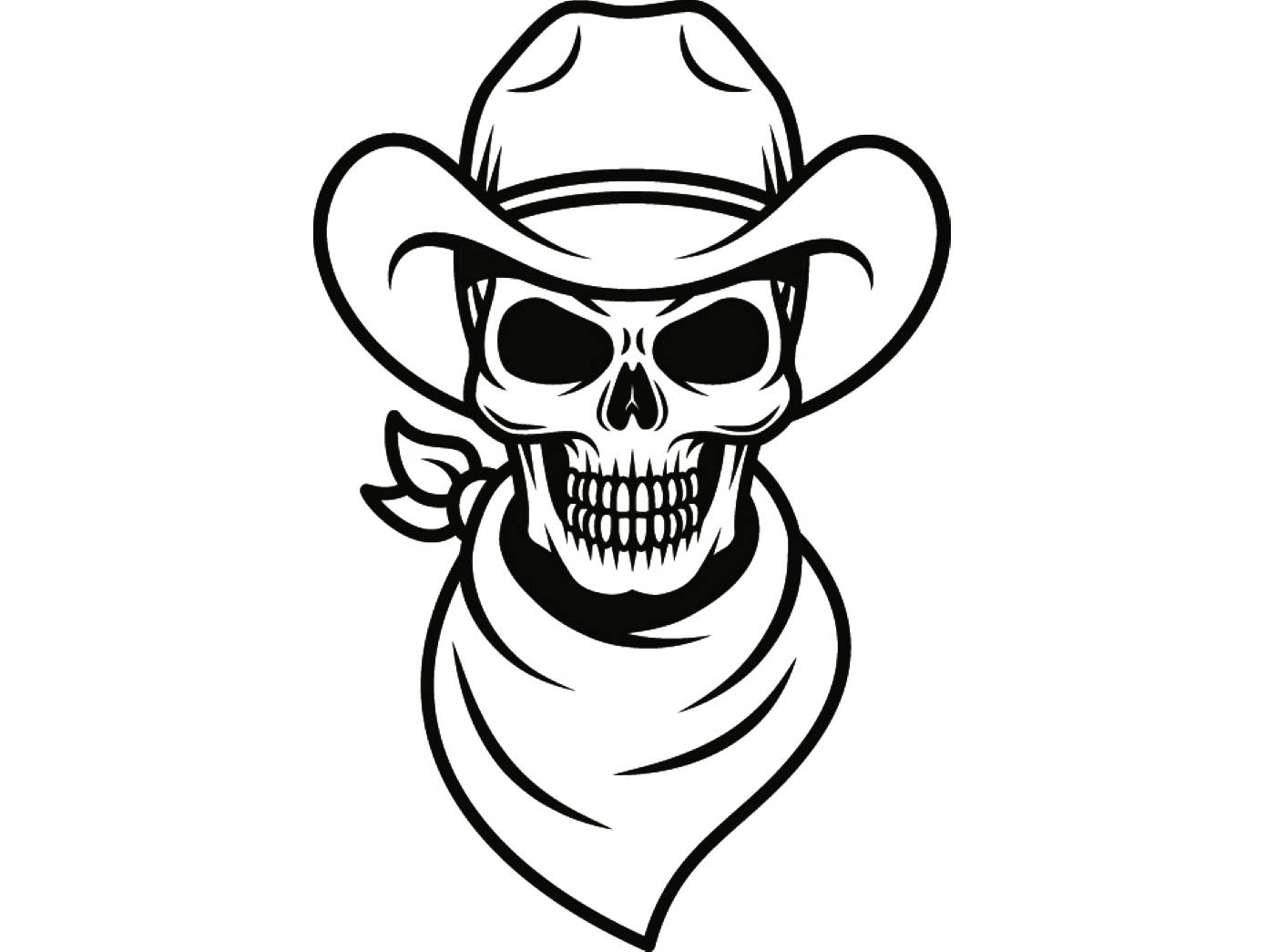Cowboy Skull Drawing At Getdrawings