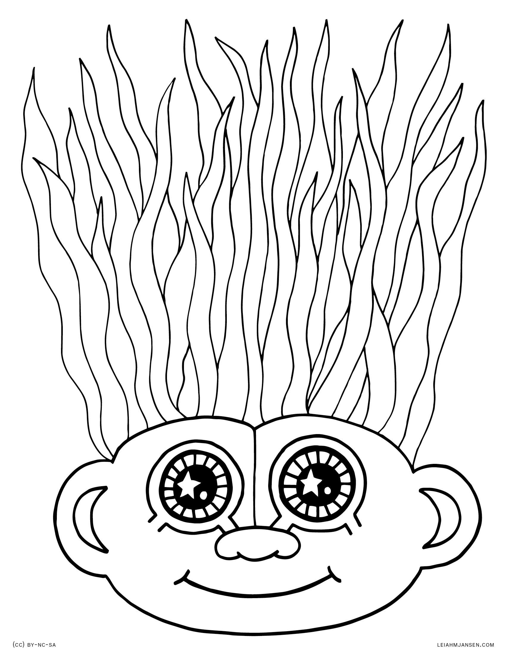 Crazy Hair Drawing At Getdrawings