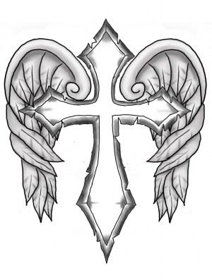 cross drawings cool easy drawing crosses pencil draw sketches getdrawings wings paintingvalley