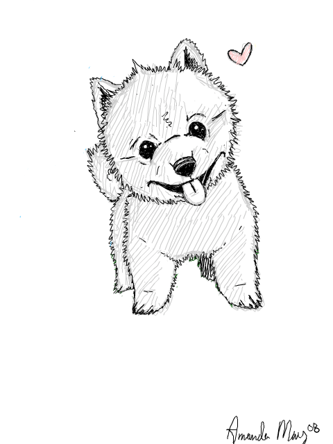 Cute Cartoon Dog Drawing At Getdrawings Com