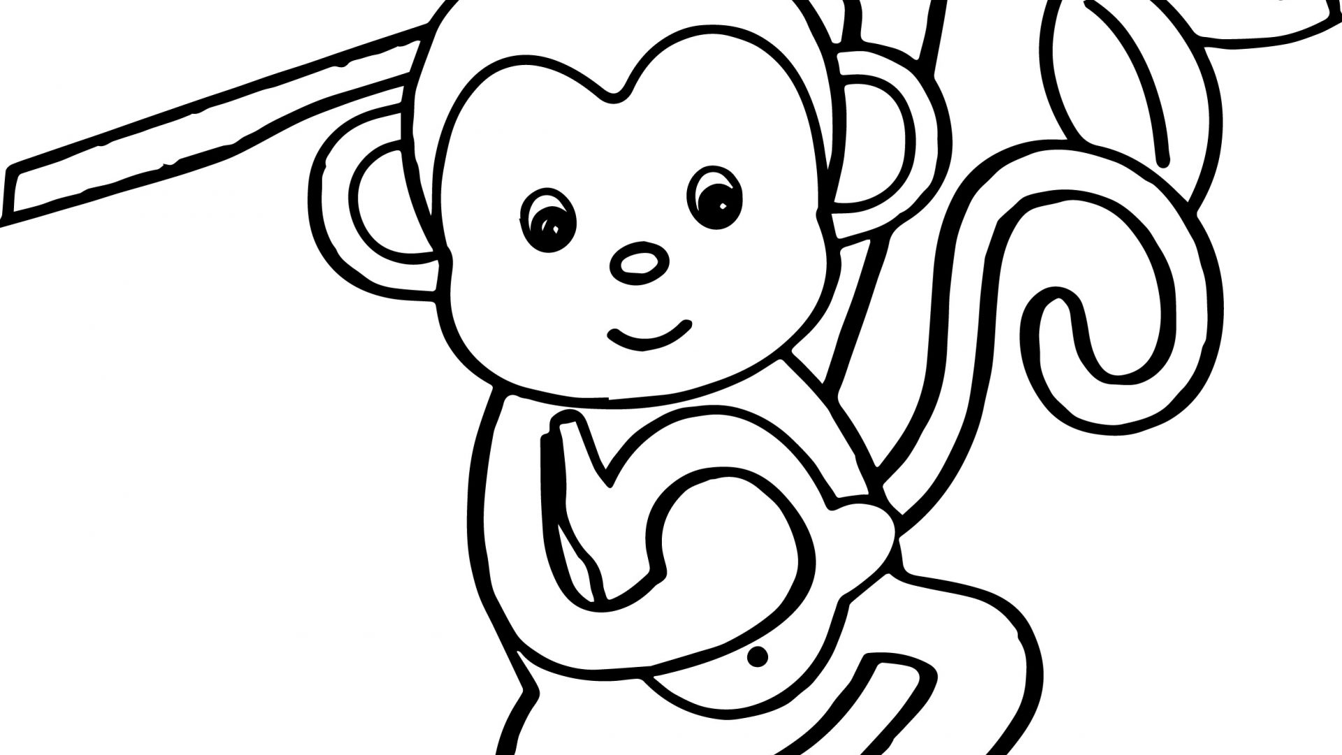 Cute Drawing Of A Monkey At Getdrawings