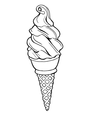 ice cream drawing cone cones icecream kelly artist resident gilleran redbubble rb getdrawings snow mane gucci template