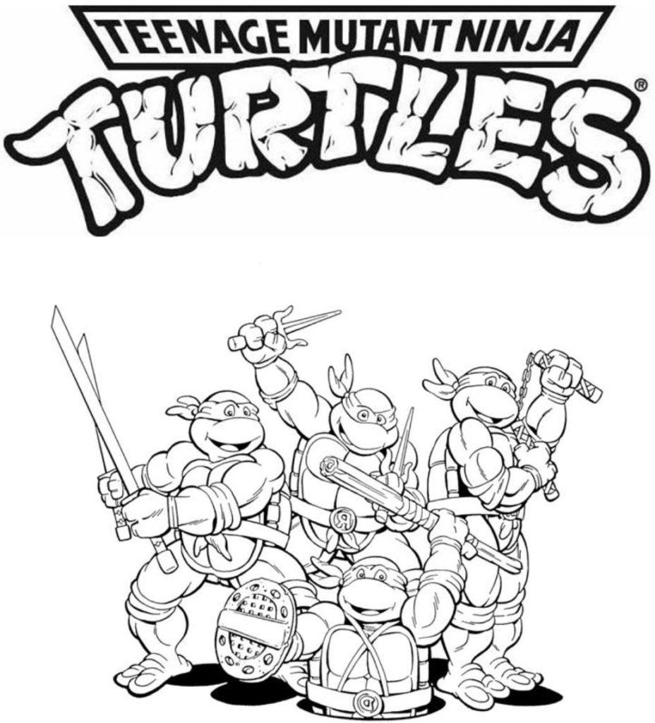 Cute Ninja Turtle Coloring Page   Novocom.top
