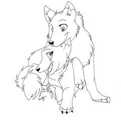 wolf wolves anime couple drawing cute drawings deviantart getdrawings manga