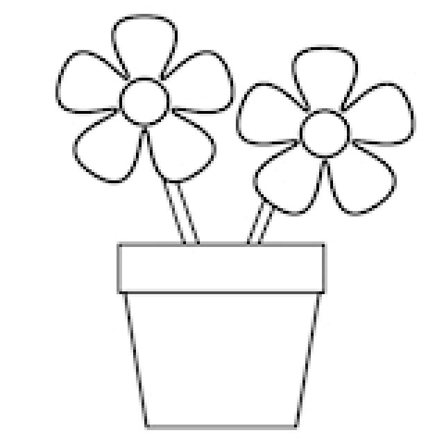 Flower Drawing Template At Getdrawings Com