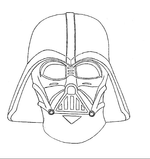 Darth Vader Head Drawing At Getdrawings Com