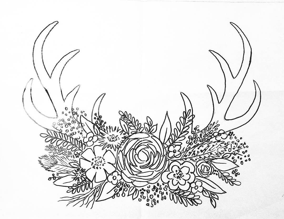 Deer Horns Drawing At Getdrawings