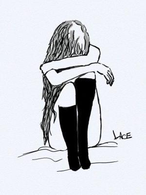 drawing depressed crying sad drawings easy step getdrawings