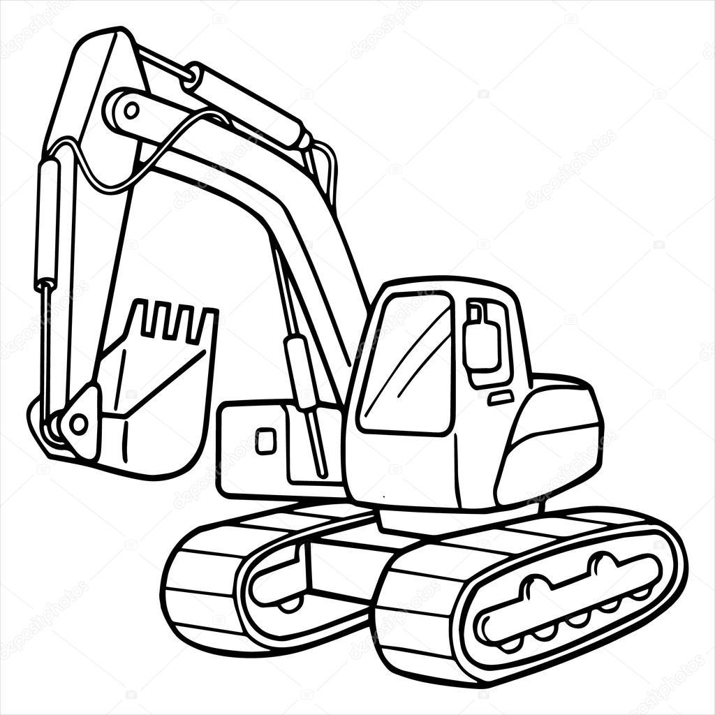 Digger Drawing At Getdrawings