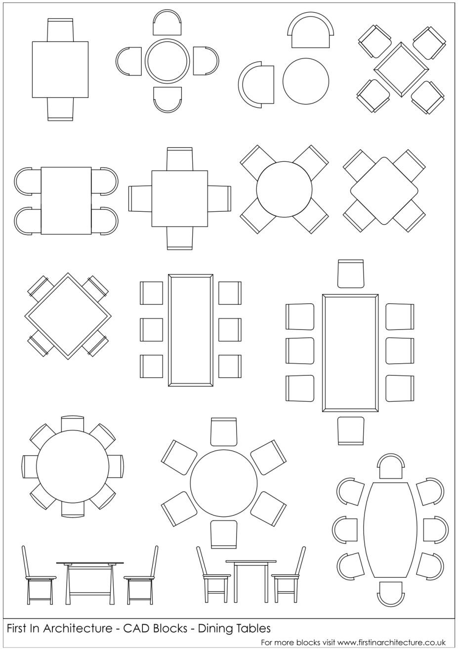 927x1318 fia cad blocks dining tables dimensions pinterest autocad