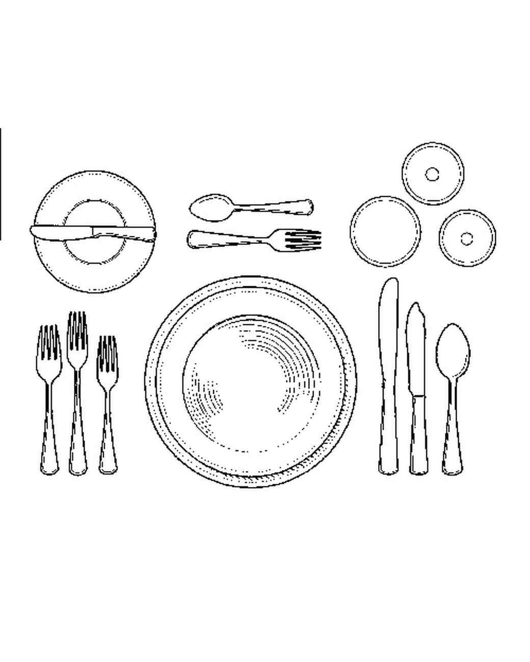 Dinner Table Drawing At Getdrawings