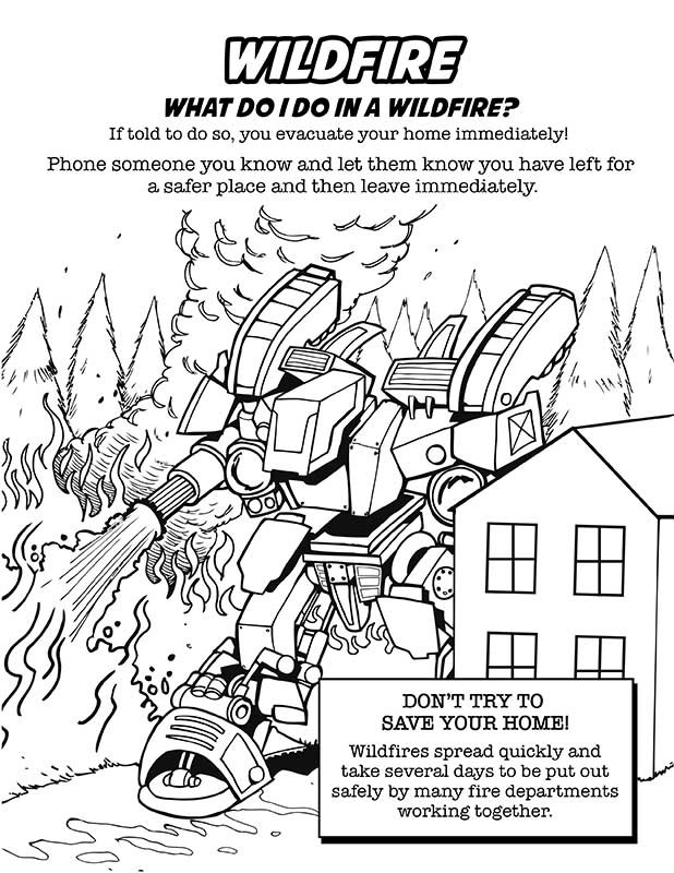Earthquake Safety Coloring Pages Sketch Coloring Page